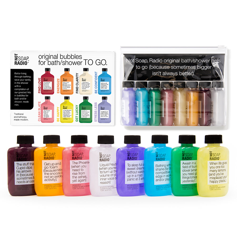Mini all-together bath/shower gel set - Not Soap Radio gift set