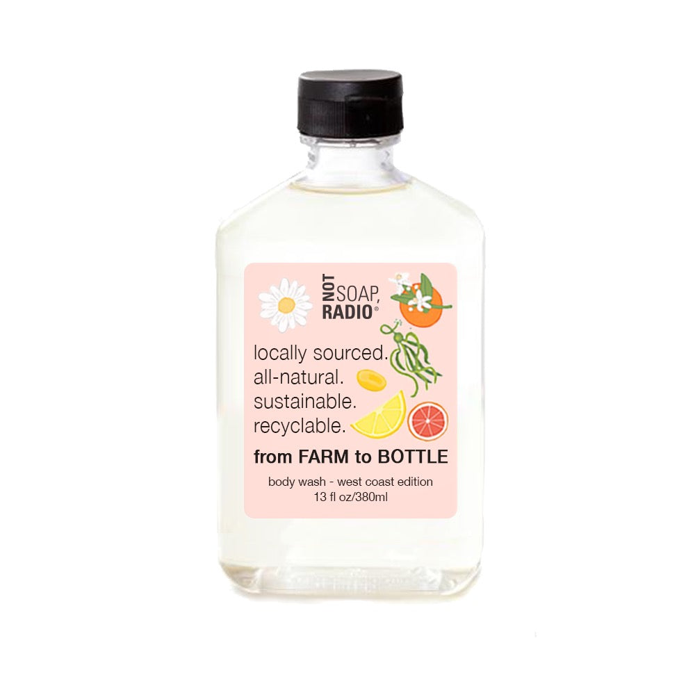 Farm to bottle bath shower gel  - west coast edition - Not Soap Radio