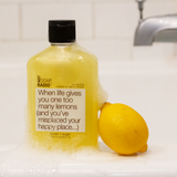 Funny optimistic bath products - When life gives you one too many lemons - Not Soap Radio
