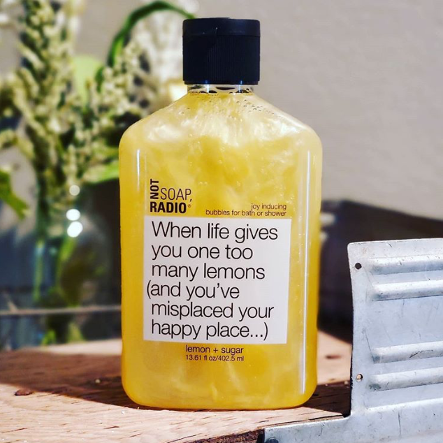 When life gives you one too many lemons bubble bath -  Lemon essential oil, Natural Aromatherapy body wash, Not Soap Radio bath products