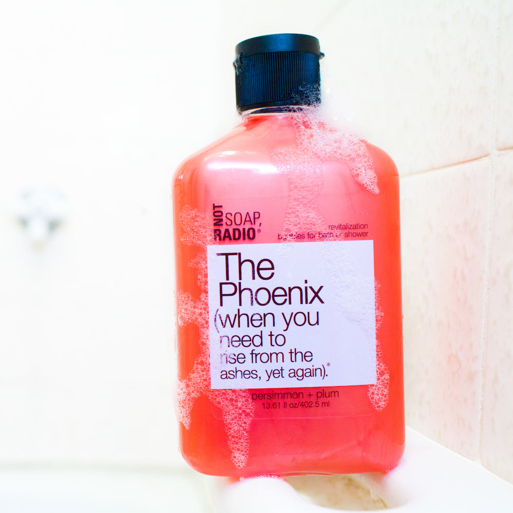 The Phoenix (when you need to rise from the ashes, yet again) is a rejuvenating bubble bath that makes for a great aromatherapy gift! This all natural body wash with persimmon, plum and bergamot essential oils promotes optimism and improves mood.