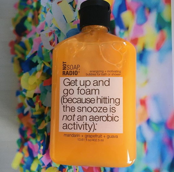 Get up and go foam bath/shower gel