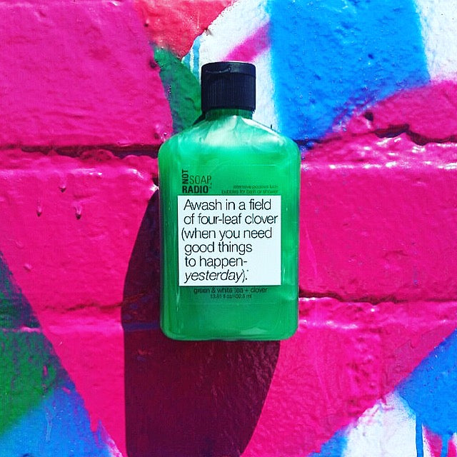 Awash in a field of four-leaf clover bath/shower gel