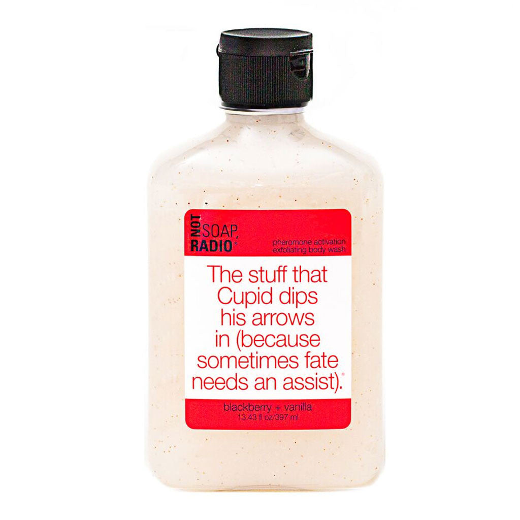 The stuff that Cupid dips his arrows in (because sometimes fate needs an assist). - Not Soap Radio Exfoliating body wash