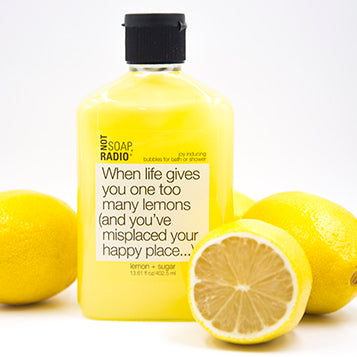 Natural lemons bubble bath - Not Soap Radio