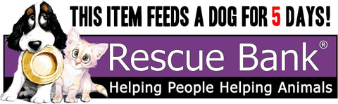when you purchase a 35x5 frame you will be feeding a shelter dog for 5 days through our partnership with rescue bank