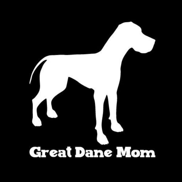 Great Dane Mom Vinyl Car Window Decal