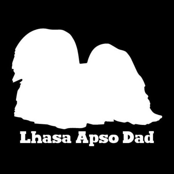 Lhasa Apso Dad Vinyl Car Window Decal