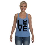 Ladies' Black German Shepherd Love Tank