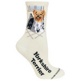 Natural Yorkshire Terrier Lover Socks