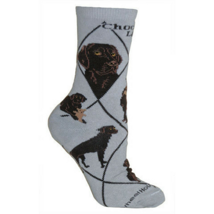 Classic Chocolate Lab Lover Socks