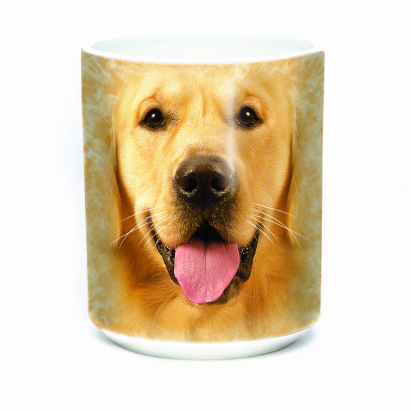 Big Golden Retriever Face Mug
