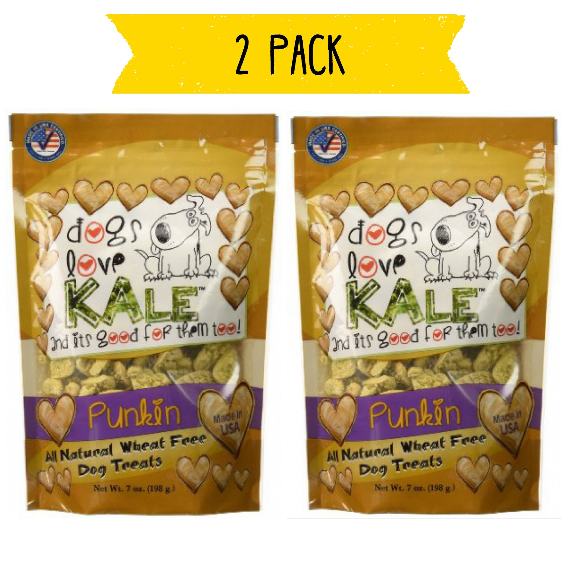 Dogs Love Kale Wheat Free Treats - Punkin'