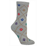 Colorful Pawprint Socks