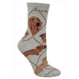 Classic Red Dachshund Lover Socks