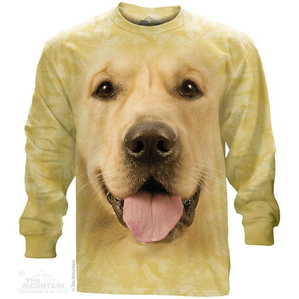 Big Golden Face Long Sleeve Tee