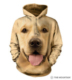 Big Golden Retriever Face Hoodie
