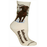 Natural Chocolate Lab Lover Socks