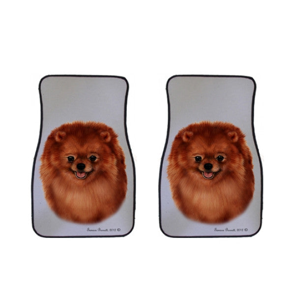 Pomeranian Car Mats (Set of 2)