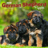 German Shepherd Puppies 2019 Wall Calendar
