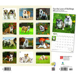 For The Love Of Bulldogs 2019 Deluxe Wall Calendar