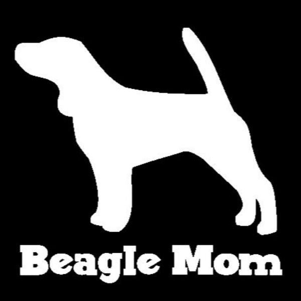Beagle Mom Vinyl Car Window Decal