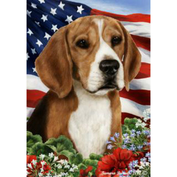 Tamara Burnett Patriotic Beagle Flag