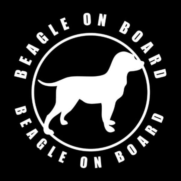 Beagle On Board Vinyl Car Window Decal