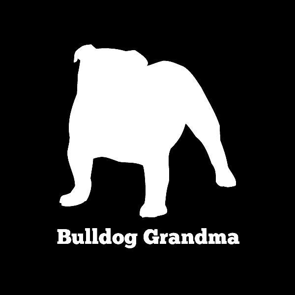 Bulldog Grandma Vinyl Car Window Decal