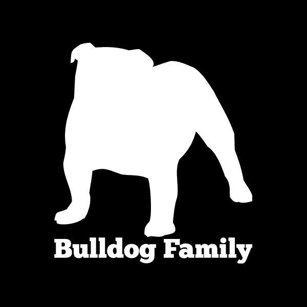 Bulldog Family Vinyl Car Window Decal