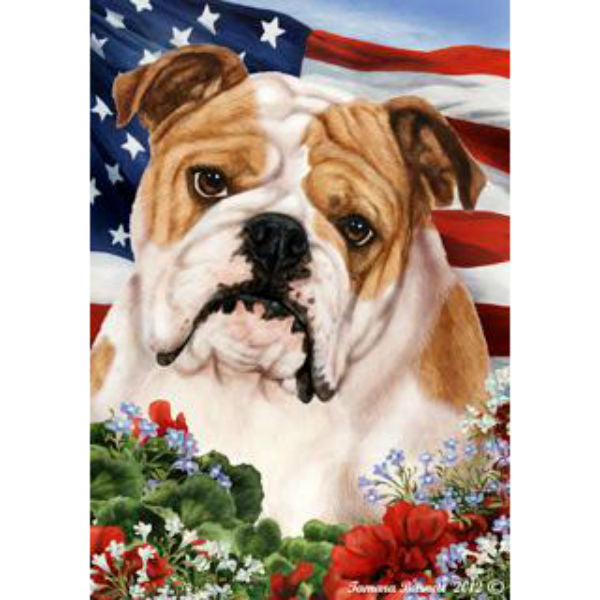 Tamara Burnett Patriotic Bulldog Flag