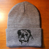 English Bulldog Knit Ski Hat