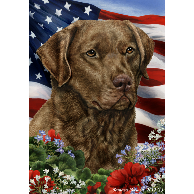 Patriotic Chesapeake Bay Retriever Flag