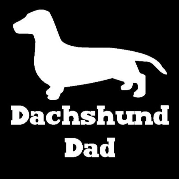 Dachshund Dad Vinyl Car Window Decal