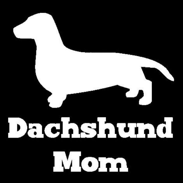 Dachshund Mom Vinyl Car Window Decal