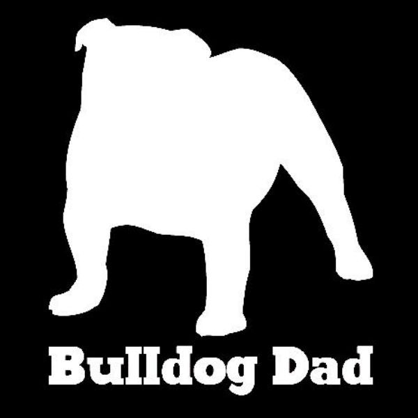 Bulldog Dad Vinyl Car Window Decal