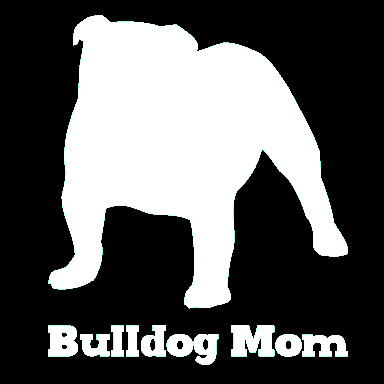 Bulldog Mom Vinyl Car Window Decal