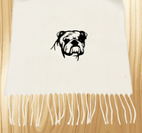 English Bulldog Ski Scarf