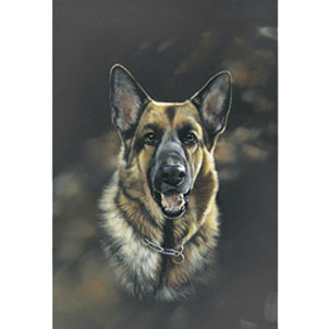 Polyanna Pickering German Shepherd Flag