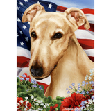Tamara Burnett Patriotic Greyhound Flag