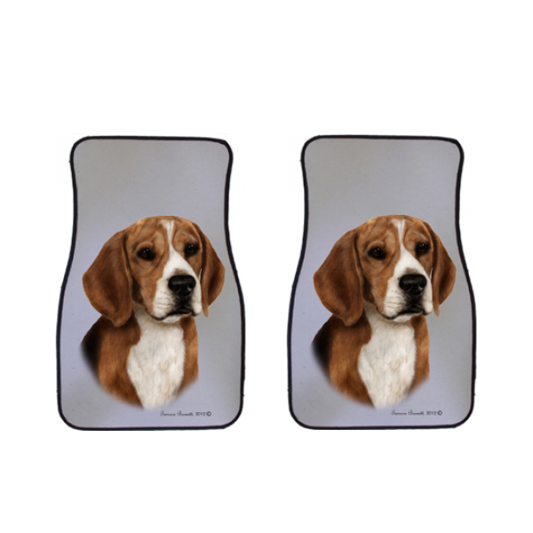 Beagle Car Mats (Set of 2)