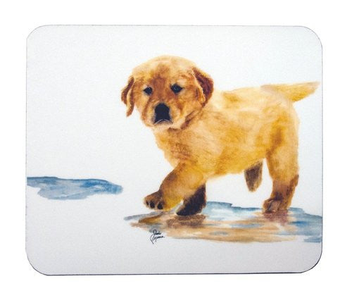 Puddles The Golden Retriever Mouse Pad