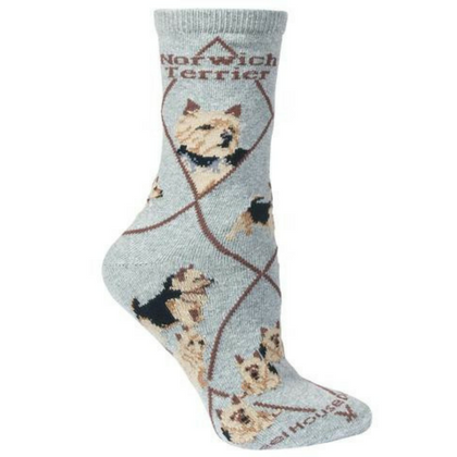 Classic Norwich Terrier Lover Socks