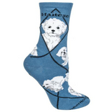 Classic Maltese (Puppy Cut) Lover Socks