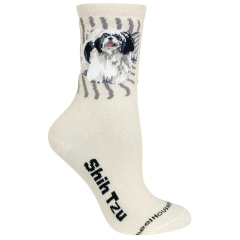 Natural Shih Tzu Lover Socks