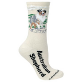 Natural Australian Shepherd Lover Socks