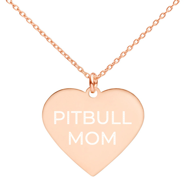 Pitbull Mom Heart Necklace