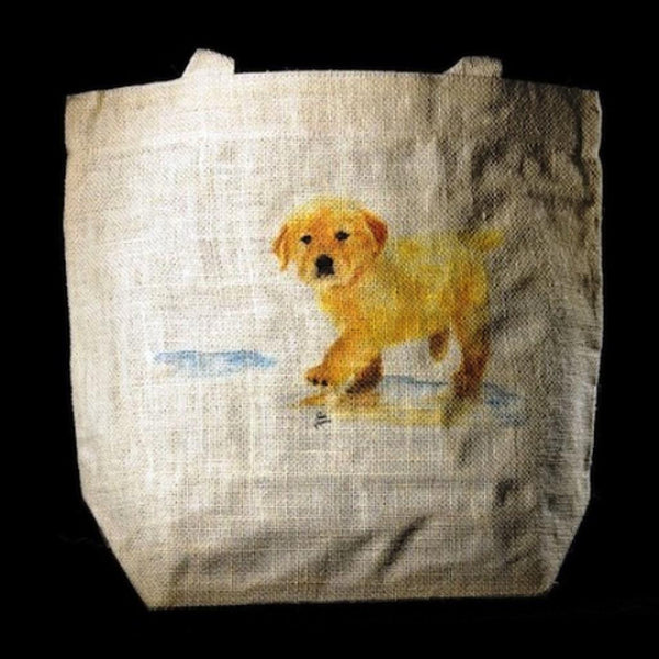 "Limited Edition ""Puddles"" Golden Retriever Tote"