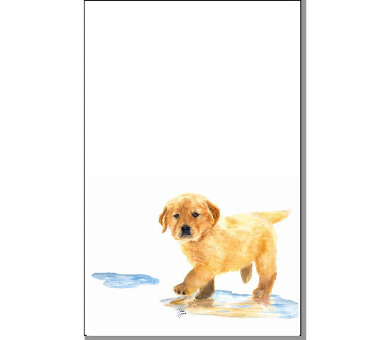Puddles The Golden Retriever Notepad