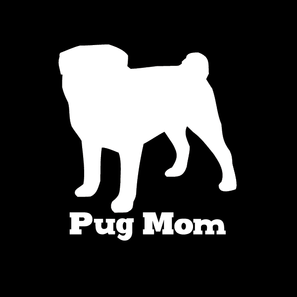 Pug Mom Vinyl Car Window Decal